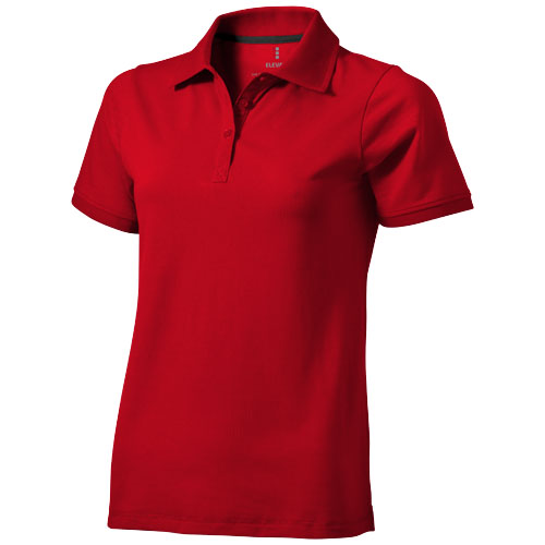 Yukon short sleeve ladies Polo in red