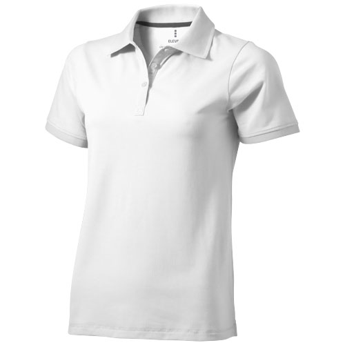 Yukon short sleeve ladies Polo in white-solid