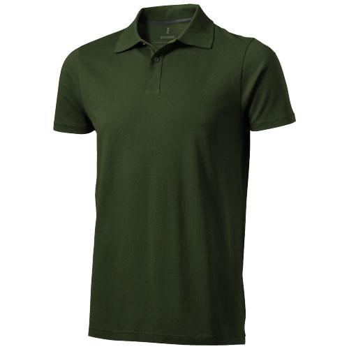 Seller short sleeve men's polo in army-green