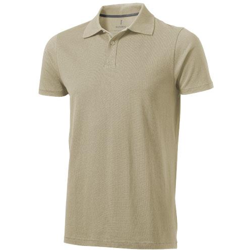 Seller short sleeve men's polo in khaki