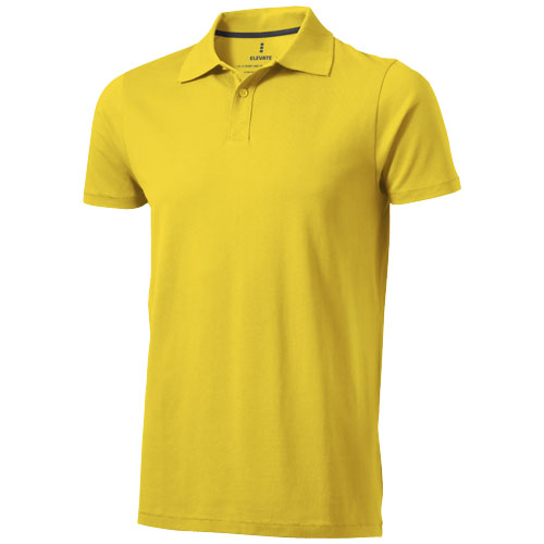 Seller short sleeve men's polo in yellow
