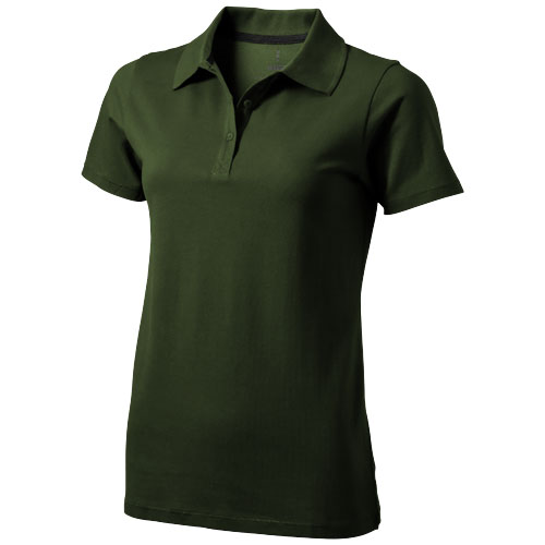 Seller short sleeve women's polo in army-green