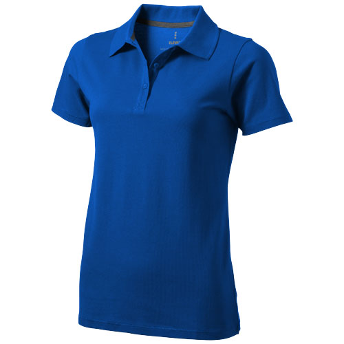 Seller short sleeve women's polo in blue