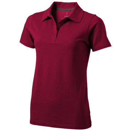 Seller short sleeve women's polo in burgundy