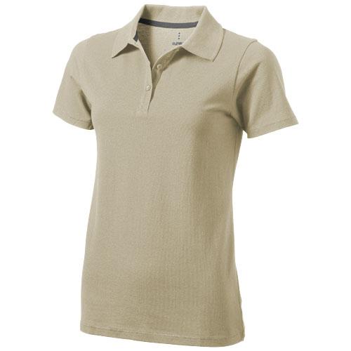 Seller short sleeve women's polo in khaki