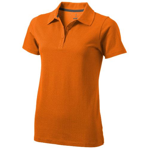 Seller short sleeve women's polo in orange