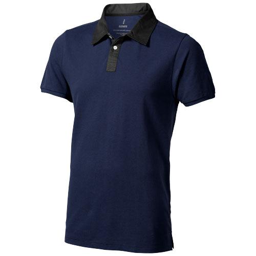 York short sleeve Polo in navy