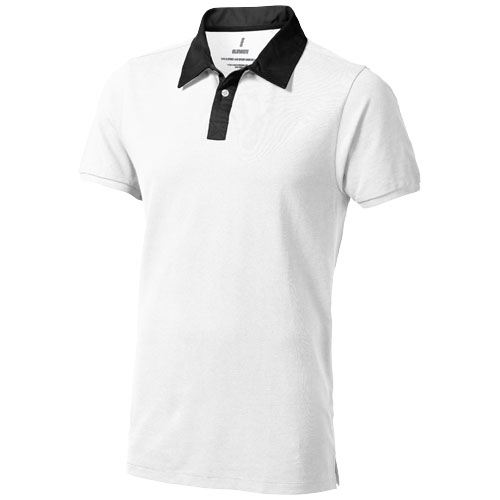 York short sleeve Polo in white-solid