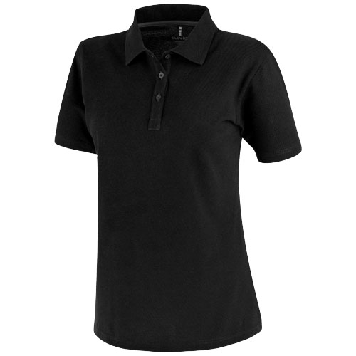 Primus short sleeve women's polo in black-solid