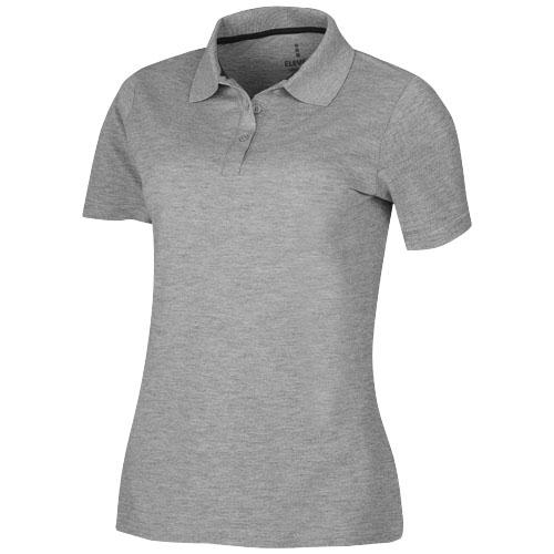 Primus short sleeve women's polo in grey-melange