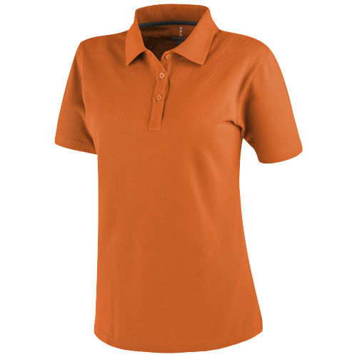 Primus short sleeve women's polo in orange