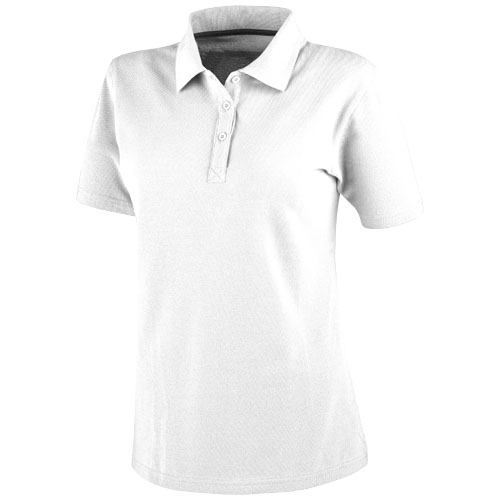 Primus short sleeve women's polo in white-solid