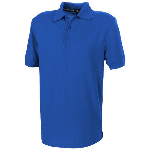 Crandall short sleeve men's polo in blue