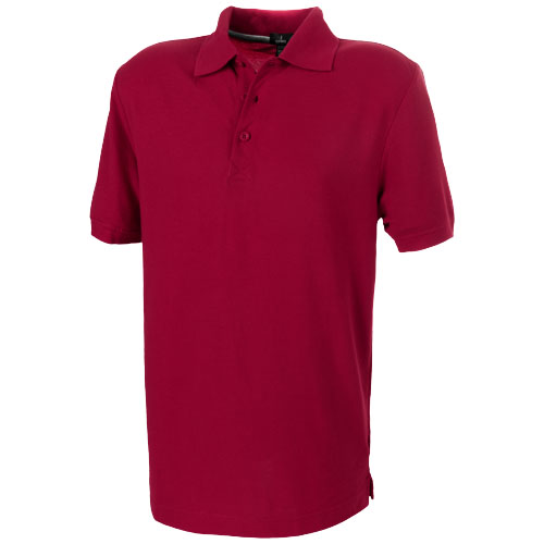 Crandall short sleeve men's polo in red