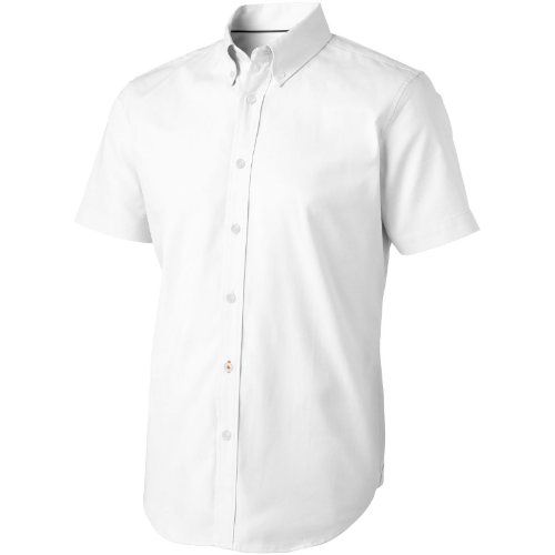 Manitoba short sleeve Shirt in white-solid