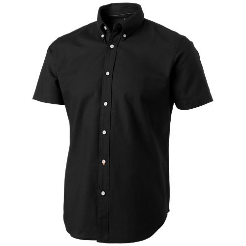 Manitoba short sleeve Shirt in black-solid