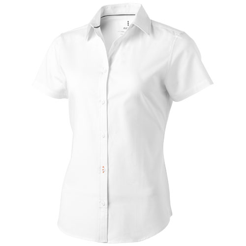 Manitoba short sleeve ladies Shirt in white-solid