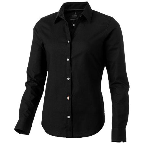 Vaillant long sleeve ladies shirt in black-solid