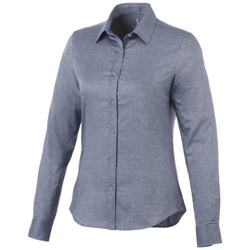 Vaillant long sleeve ladies shirt in navy