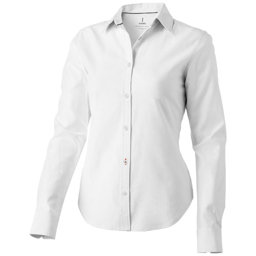 Vaillant long sleeve ladies shirt in white-solid
