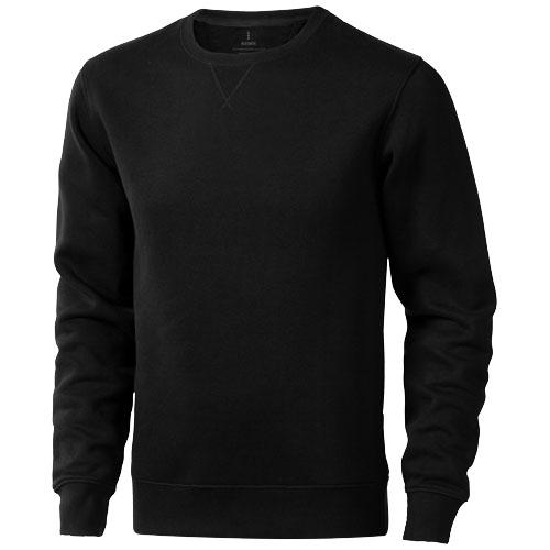 Surrey crew Sweater in black-solid