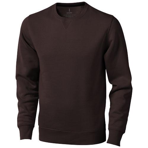 Surrey crew Sweater in chocolate-brown