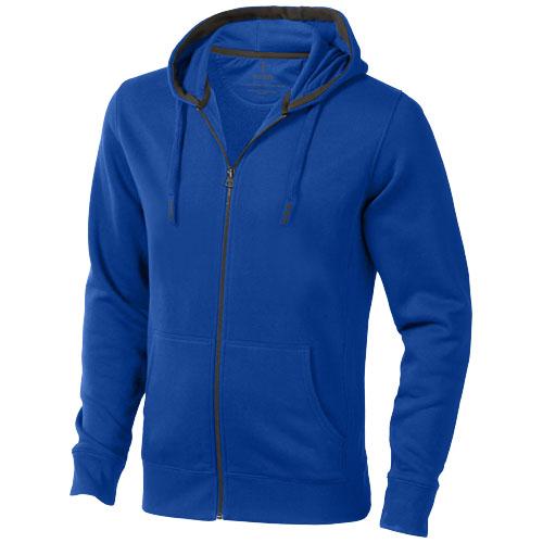 Arora hooded full zip sweater in blue