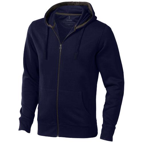 Arora hooded full zip sweater in navy