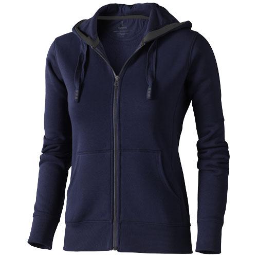 Arora hooded full zip ladies sweater in navy