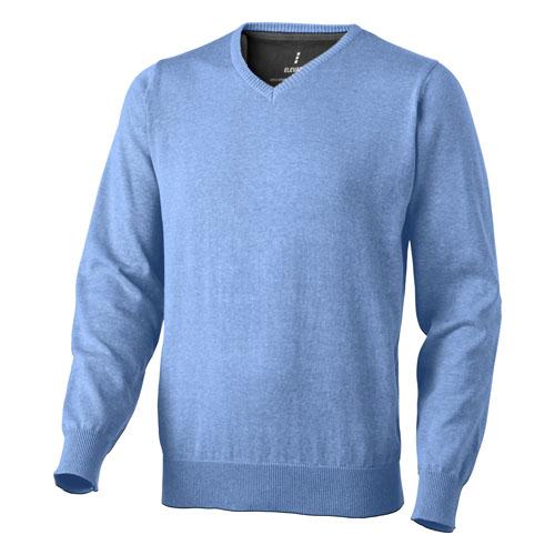 Spruce V-neck pullover in light-blue