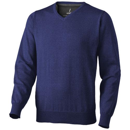 Spruce V-neck pullover in navy