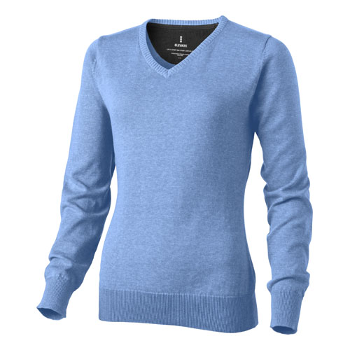 Spruce ladies V-neck pullover in light-blue