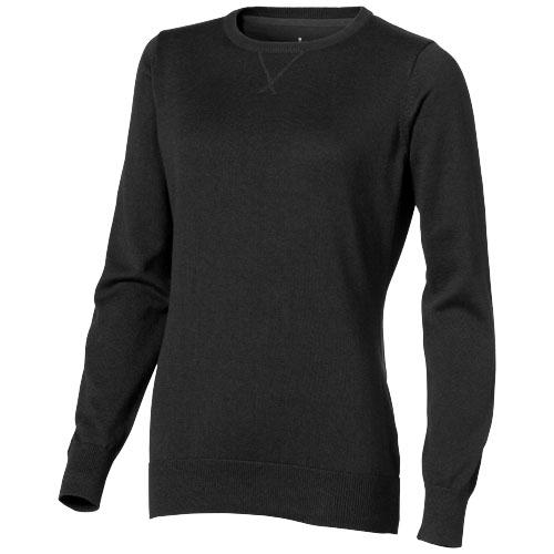 Fernie Crewneck Ladies Pullover in black-solid