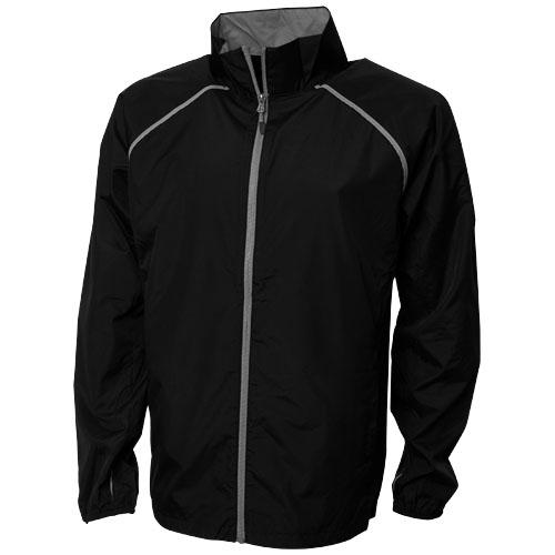 Egmont packable jacket in black-solid