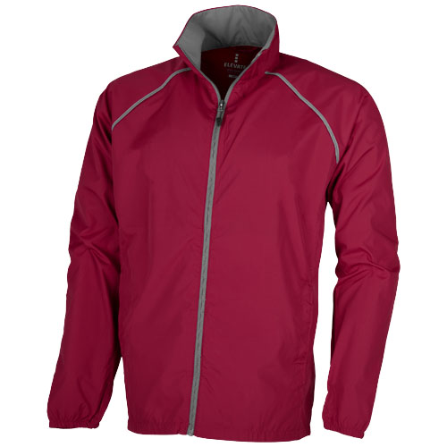 Egmont packable jacket in red