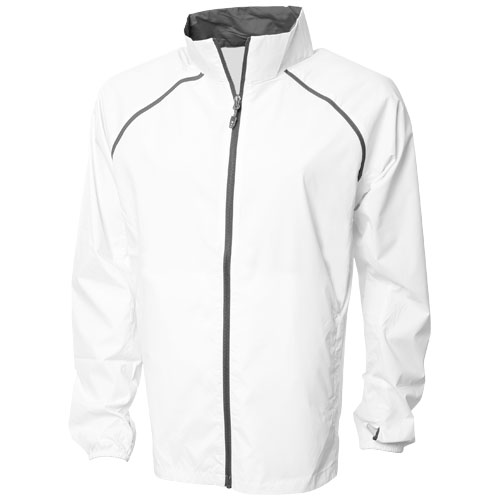 Egmont packable jacket in white-solid