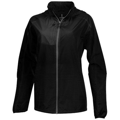 Flint lightweight jacket in black-solid