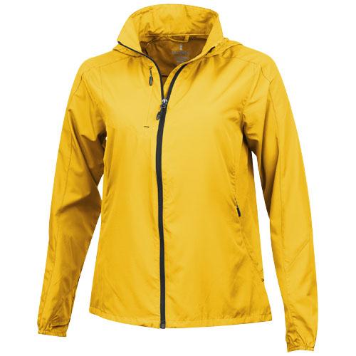 Flint lightweight ladies jacket in yellow