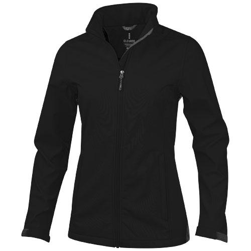 Maxson softshell ladies jacket in black-solid