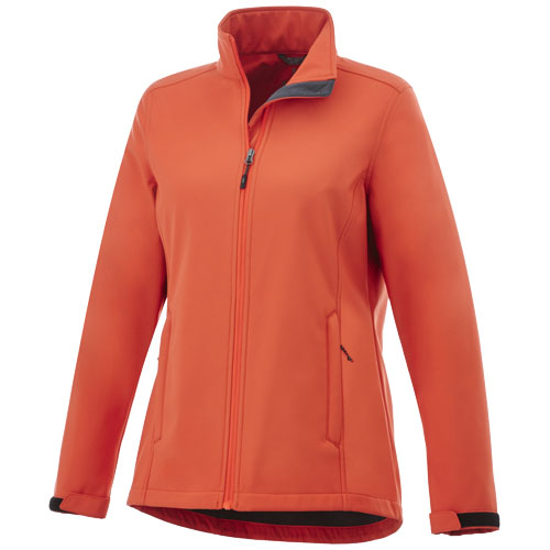 Maxson softshell ladies jacket in orange