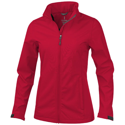 Maxson softshell ladies jacket in red