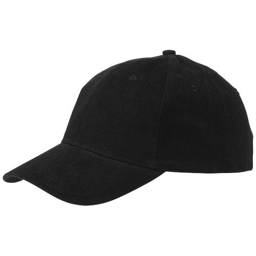 Bryson 6 panel cap in black-solid