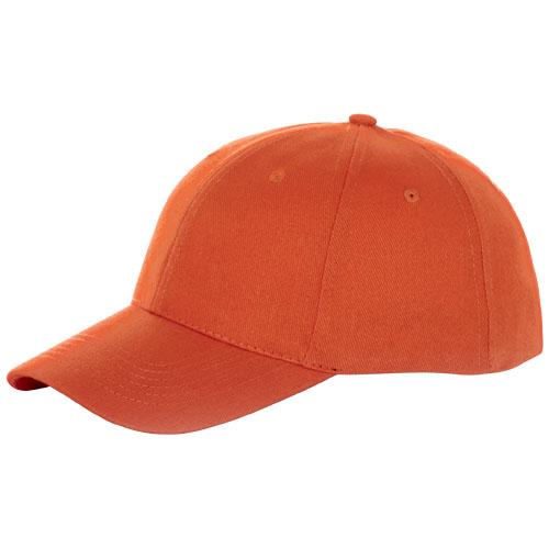 Bryson 6 panel cap in orange