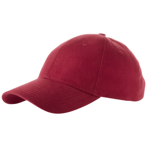 Bryson 6 panel cap in red