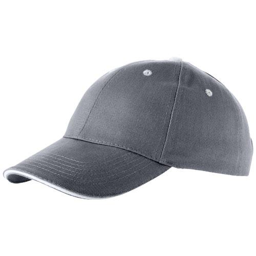 Brent 6 panel sandwich cap in steel-grey