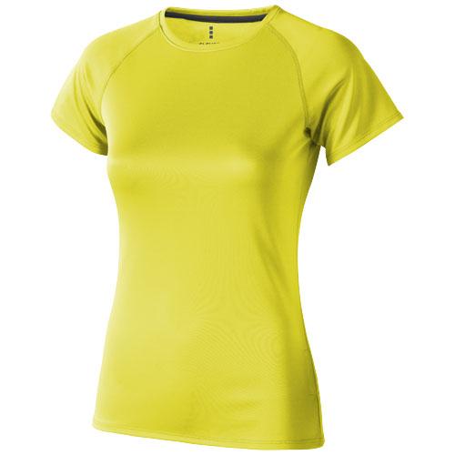 Niagara short sleeve women's cool fit t-shirt in neon-yellow