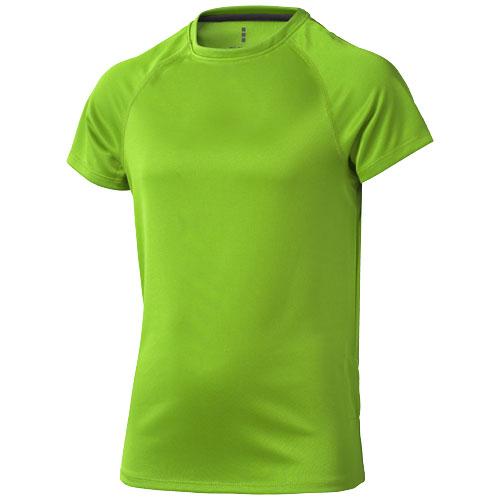 Niagara short sleeve kids cool fit t-shirt in apple-green