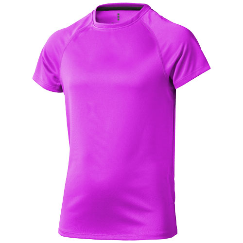 Niagara short sleeve kids cool fit t-shirt in neon-pink