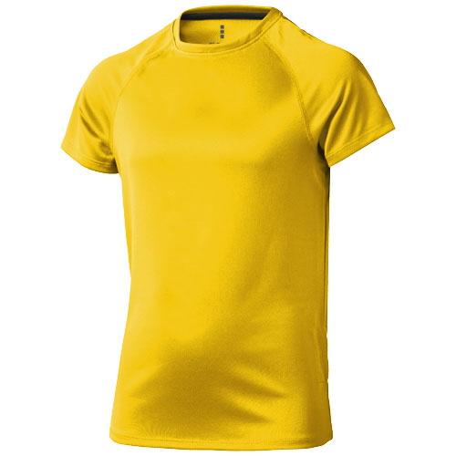 Niagara short sleeve kids cool fit t-shirt in yellow