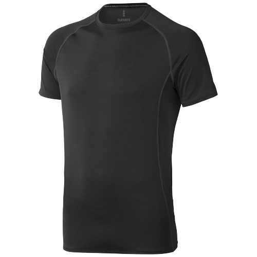 Kingston short sleeve men's cool fit t-shirt in black-solid